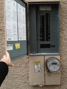 fuse box on the exterrior of the house