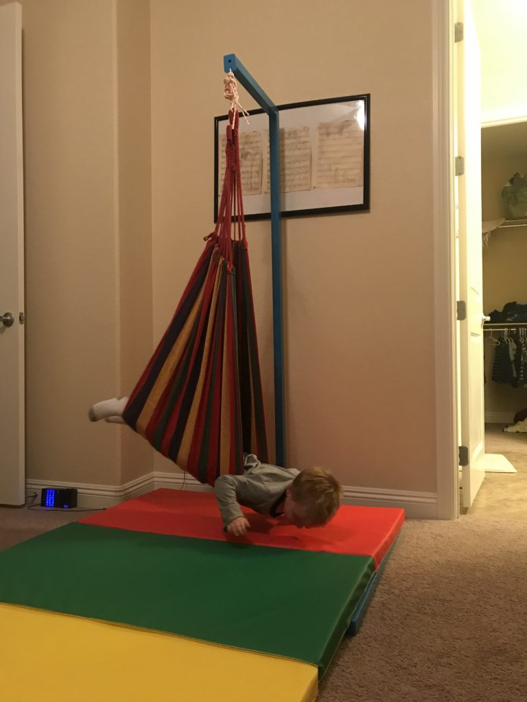 therapy swing in my hyperactive sons room