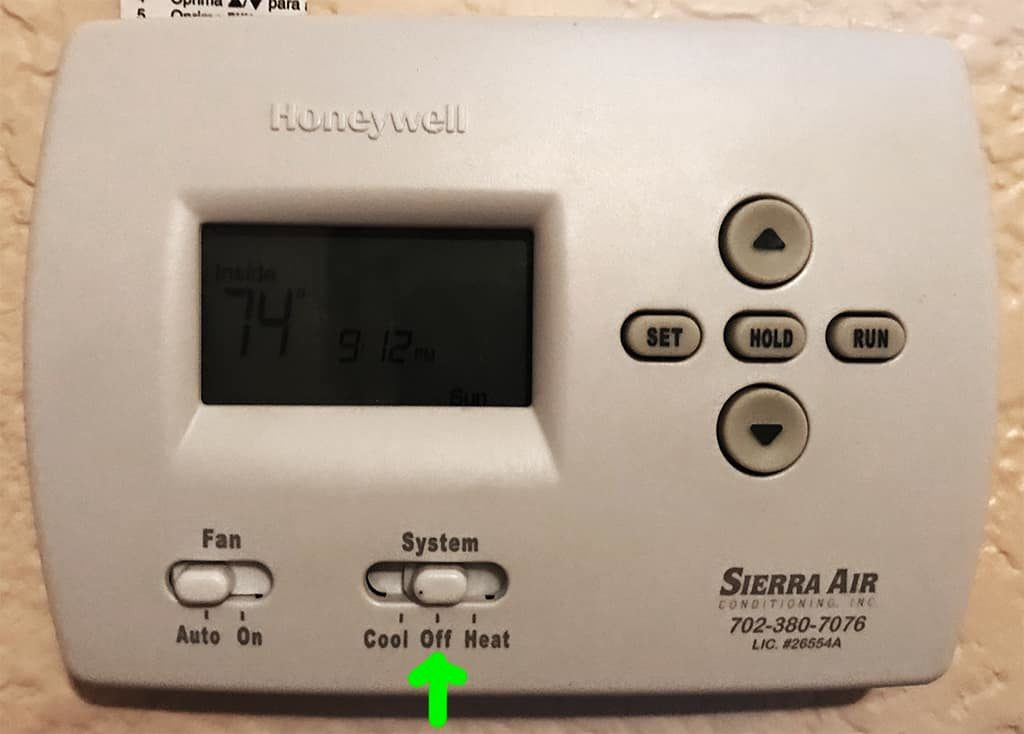 Turn off a/c at control panel before beginning hard start kit install